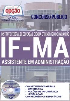 Apostila - ASSISTENTE EM ADMINISTRAÇÃO - Concurso IFMA 2016
