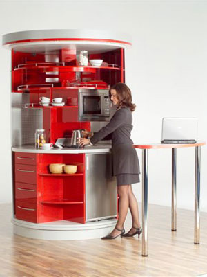 Cocinas giratorias espacios reducidos for Decoracion de cocinas en espacios pequenos