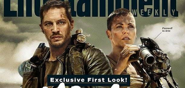 Mad Max: Fury Road | Charlize Theron tem braço biônico e cabeça raspada em capa da EW com Tom Hardy