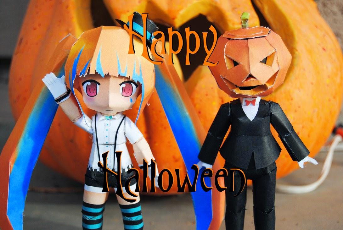 """Papercraft Vocaloid Hatsune Miku's """"Mrs. Pumpkin's Comical Dream"""""""