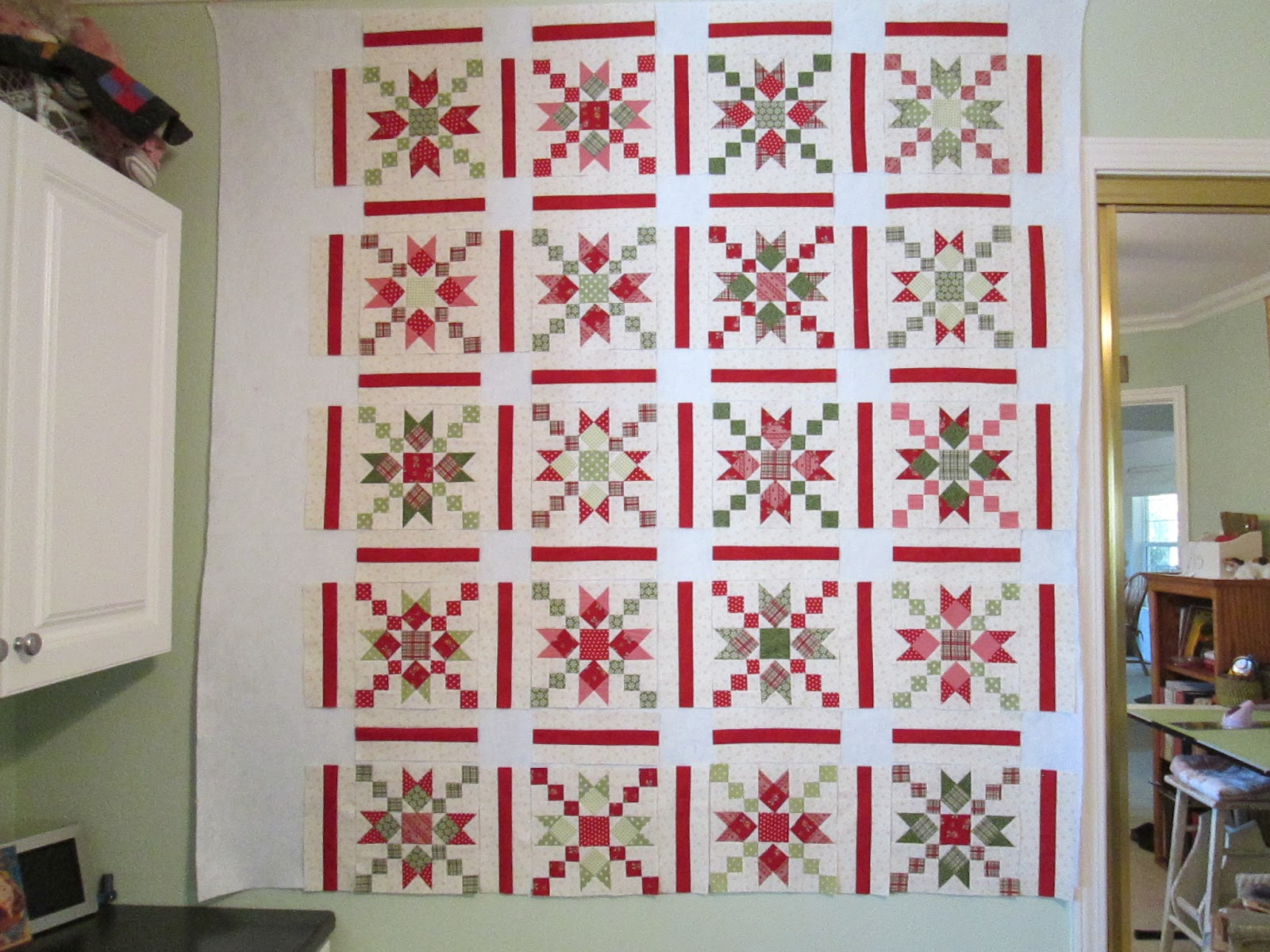 Cozy Little Quilts: Country Charmer Progress sashing & nine patch ... : sashing for quilts - Adamdwight.com