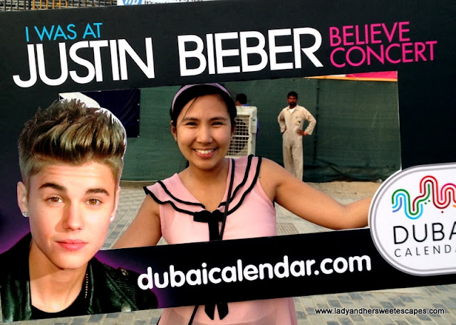 lady at Justin Bieber's Believe concert in Dubai