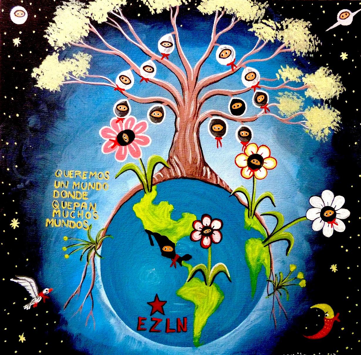 Espacio ciudadano por plasencia ecxp for Mural zapatista