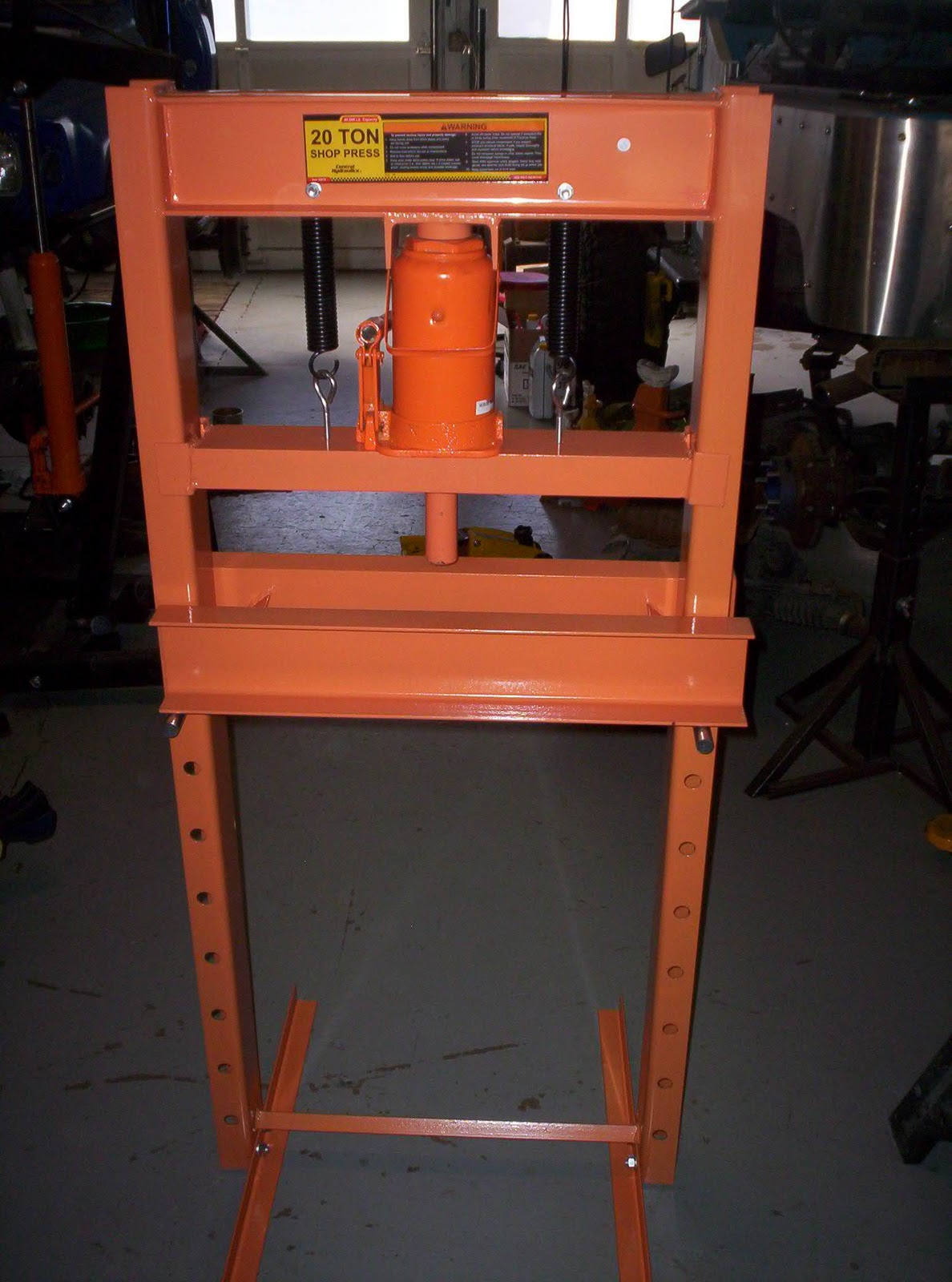 Brucker Brothers Harbor Freight 20 Ton Shop Press 175