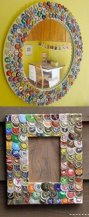 Mis puntadas preferidas espejos decorados con distintos - Materiales para trabajos manuales ...