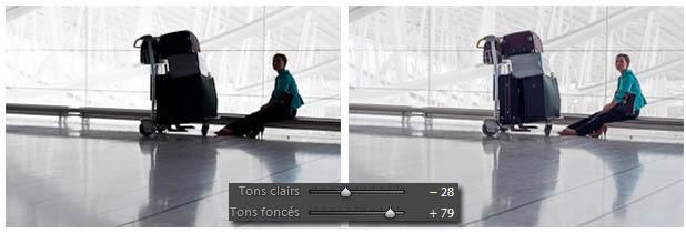Lightroom - Tons clairs et foncés
