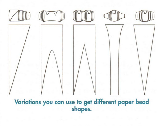 Lively image in printable paper bead templates