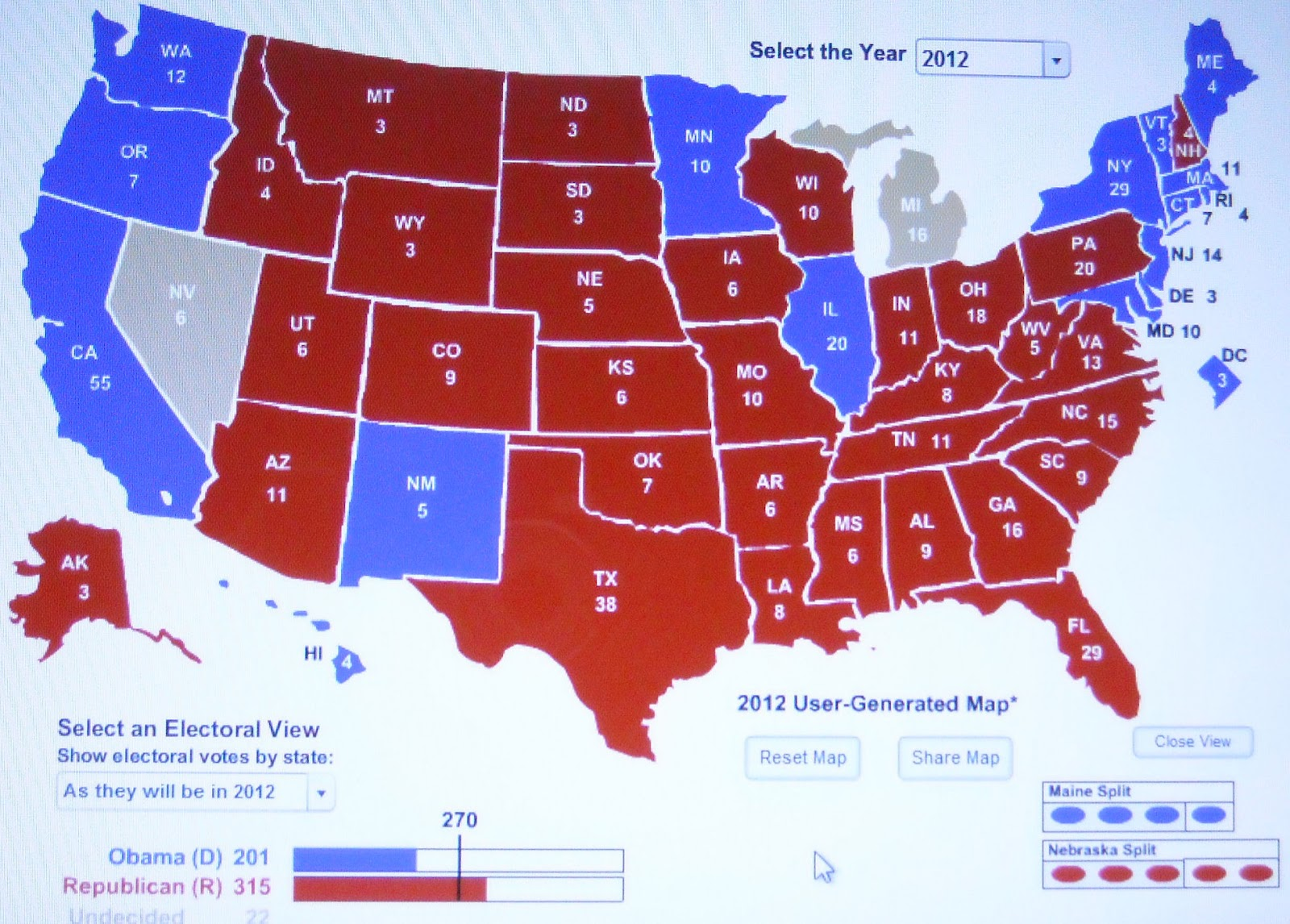cnn electoral college projection 2012 The princeton election consortium needs your help may 9th  the vote might  come down to anthony kennedy, the usual swing vote in gerrymandering cases.
