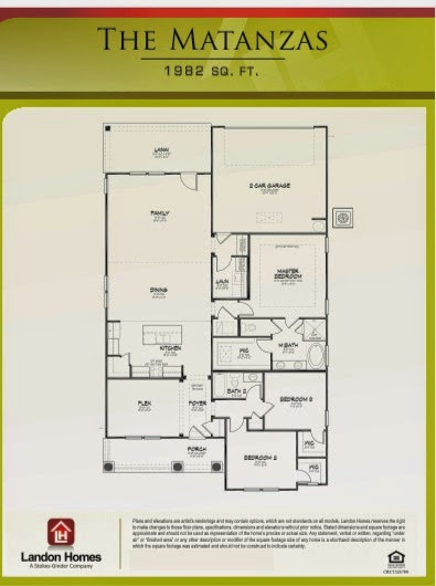 Landon homes featuring the matanzas floor plan hidden for Landon homes floor plans