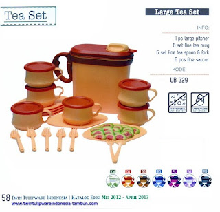 Info & Harga Twin Tulip Tulipware 2014 : Large Tea Set