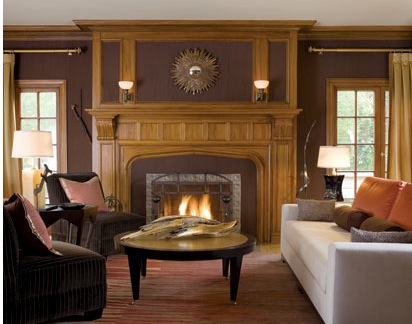 Home design tudor homes interior design for Tudor style fireplace