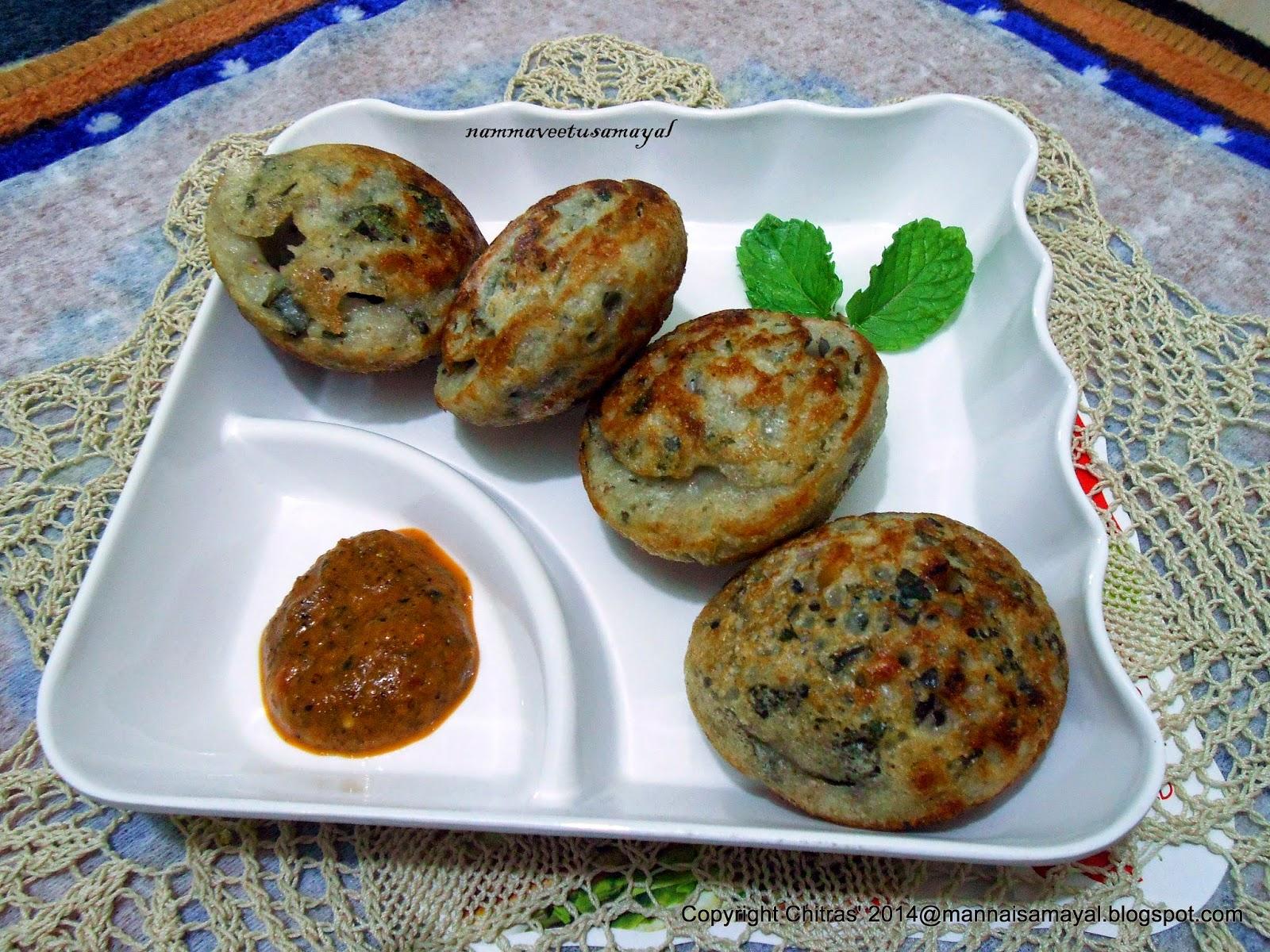 Spinach Kuzhi paniyaram