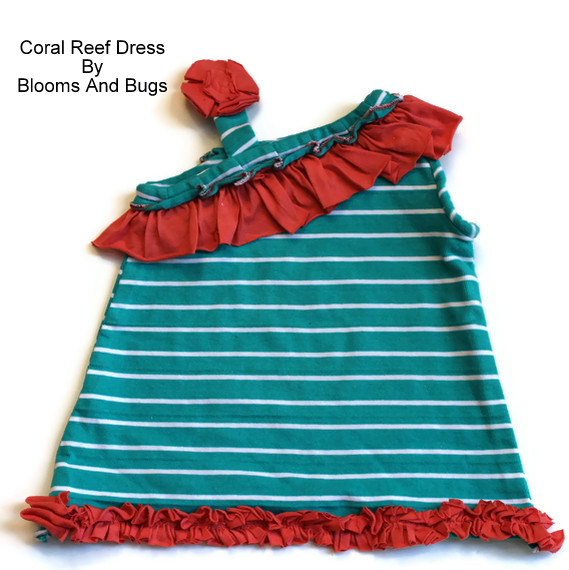 coral reef dress pattern