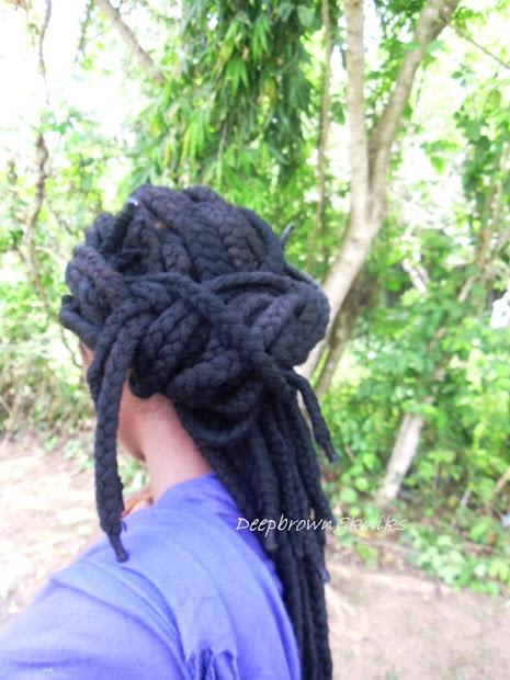 deepbrown & kinks hair style yarn