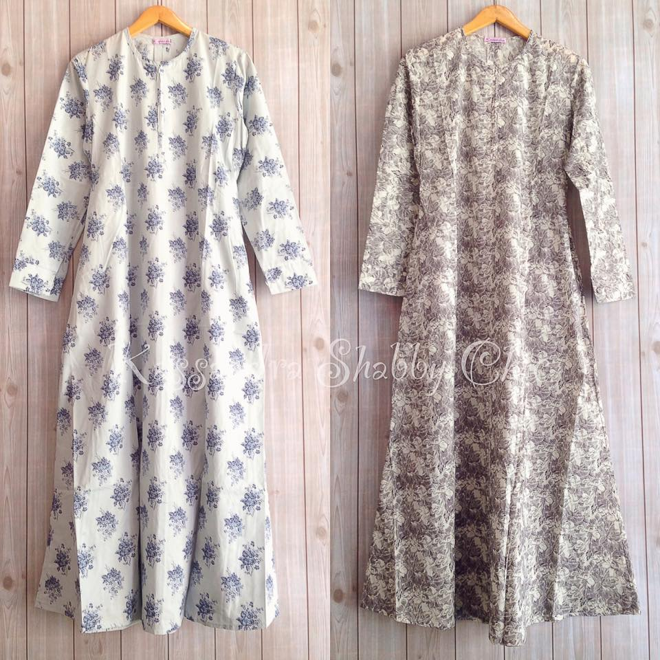 Supplier Hijab Maxi Dress Dan Baju Muslim Murah Gamis Katun  03 Jepang Shabby Chic
