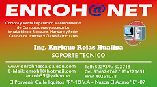 Ing. Enrique Rojas Huallpa / Soporte técnico celular: 956624762