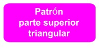 patron parte superior triangular