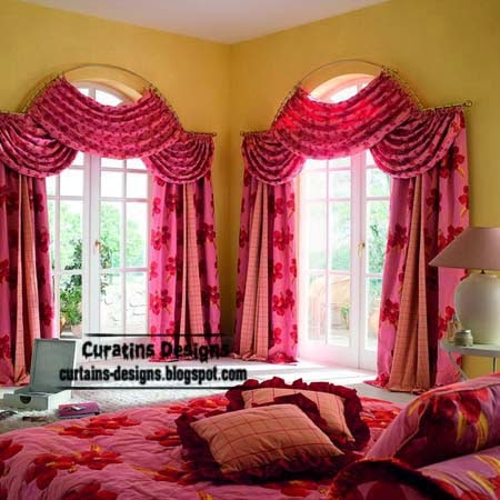 Arched windows curtain designs ideas for bedroom for Bedroom curtain designs photos