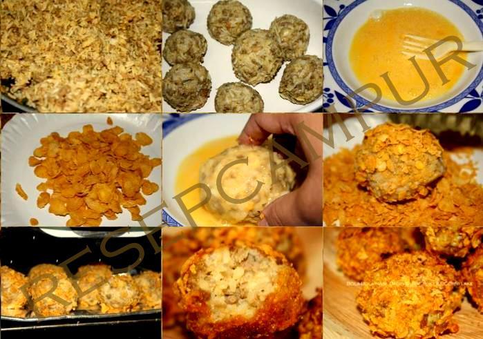 bola bola nasi daging keju resep masakan dan minuman