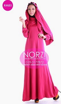 NBD0077 JUBAH WITH TUDUNG (NURSING FRIENDLY)