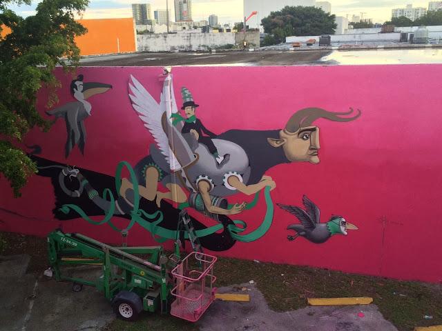 Street Art By Ukrainian Urban Artist Kislow For Art Basel Miami 2013 in Florida. 2