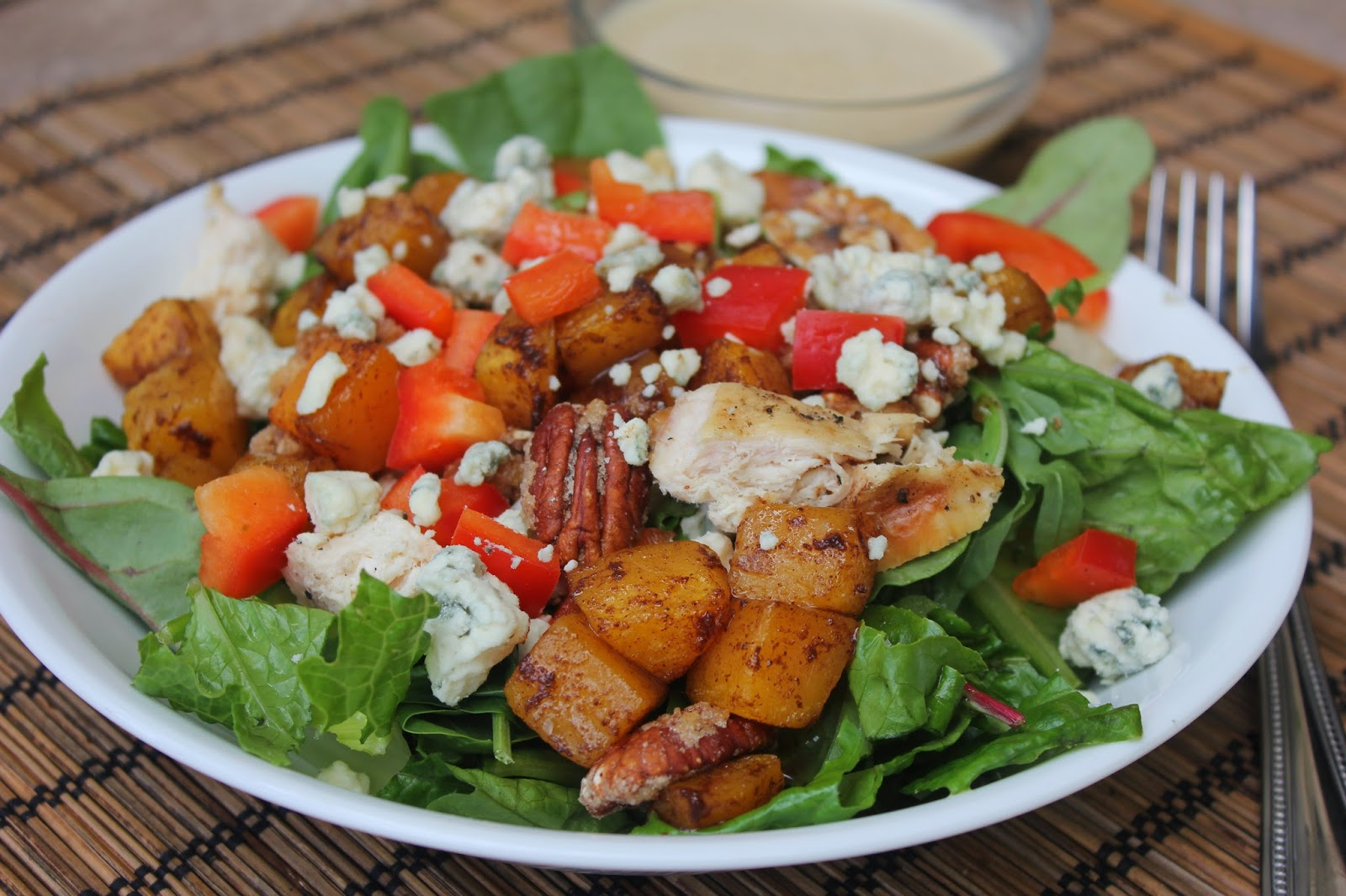 Toscana Italian Bistro Butternut Squash Salad with Maple Sage Cream Dressing, Recipe:  Salad, Recipe:  Chicken,  Copycat Recipes,