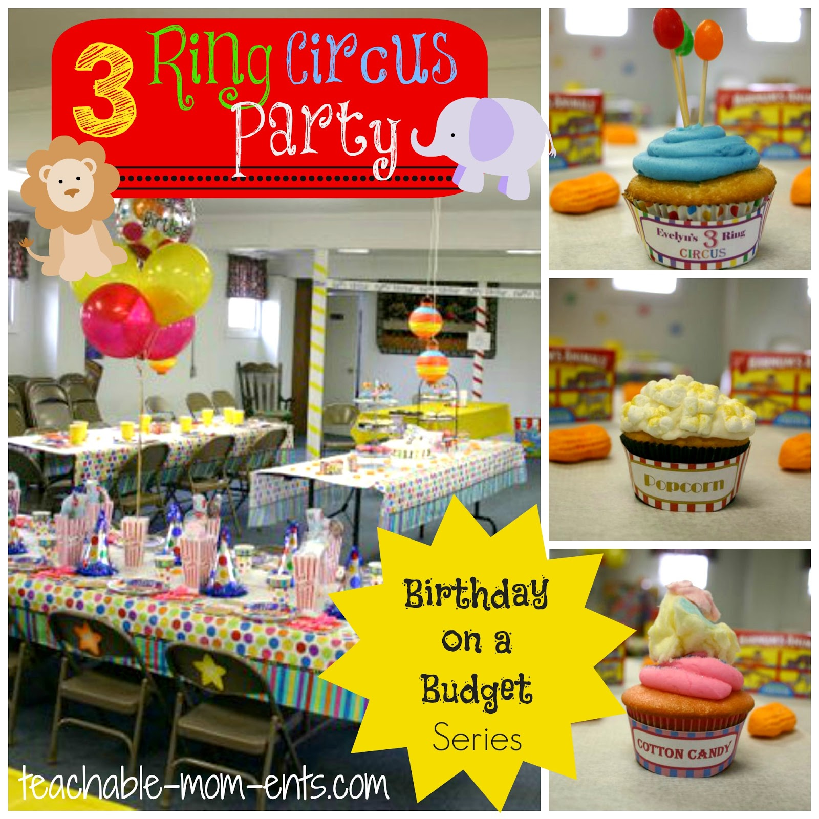 Birthday On A Budget: 3 Ring Circus Party