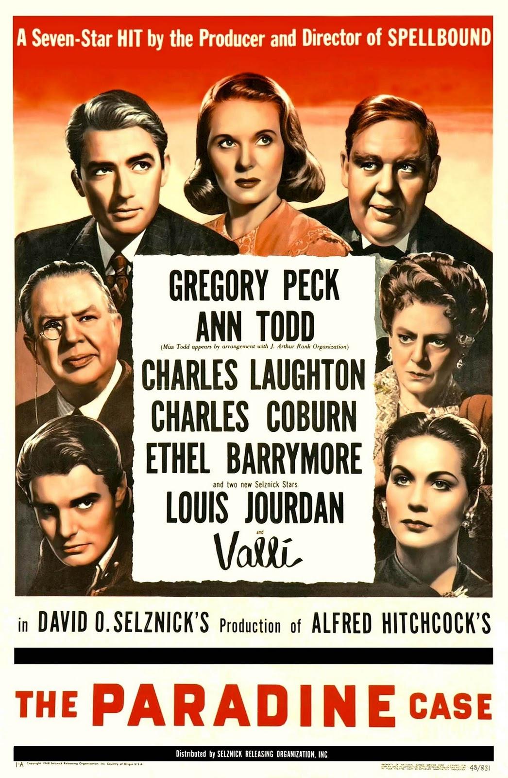 Resultat d'imatges de El proceso Paradine (1947)