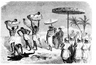 Sacrificios en Dahomey. tres