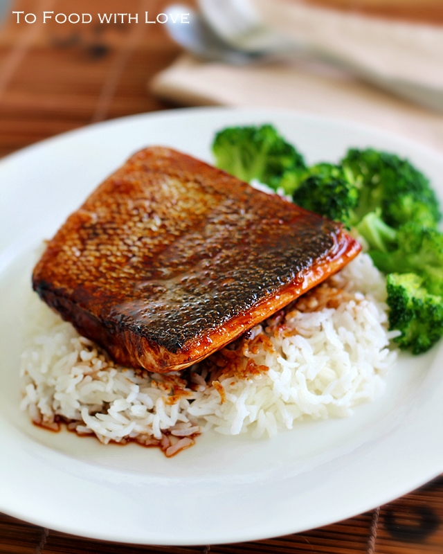 To Food with Love: Crispy-Skin Salmon Teriyaki