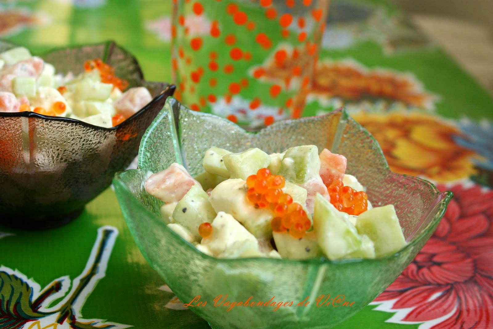 salade concombre saumon f ta blogs de cuisine. Black Bedroom Furniture Sets. Home Design Ideas