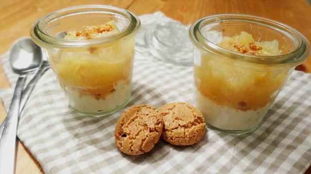 Rezept für Apfelkompott auf Marzipanquark