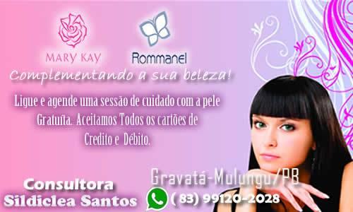 SILDICLEIA SANTOS: CONSULTORA DA MARY KAY E ROMANEL DE MULUNGU E REGIÃO