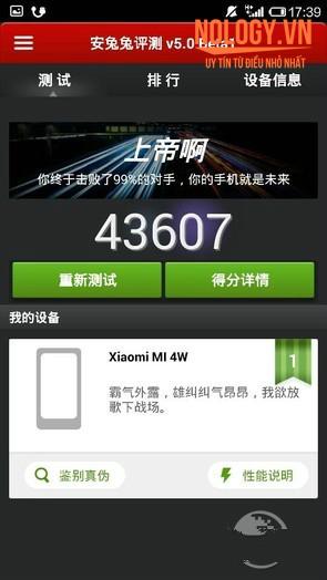 Hiệu năng trên chiếc Xiaomi Mi4