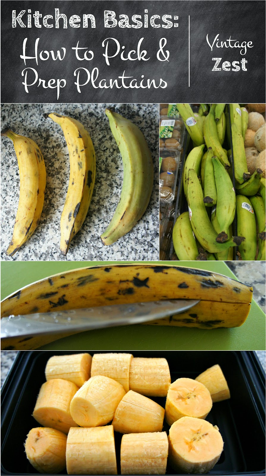 Kitchen Basics: How to Pick & Prep Plantains on Diane's Vintage Zest! #cooking #tip