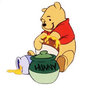ursinho pooh com pote de mel