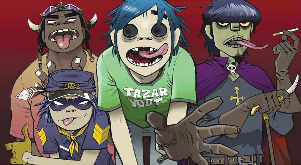 Los cuatro integrantes virtuales de Gorillaz