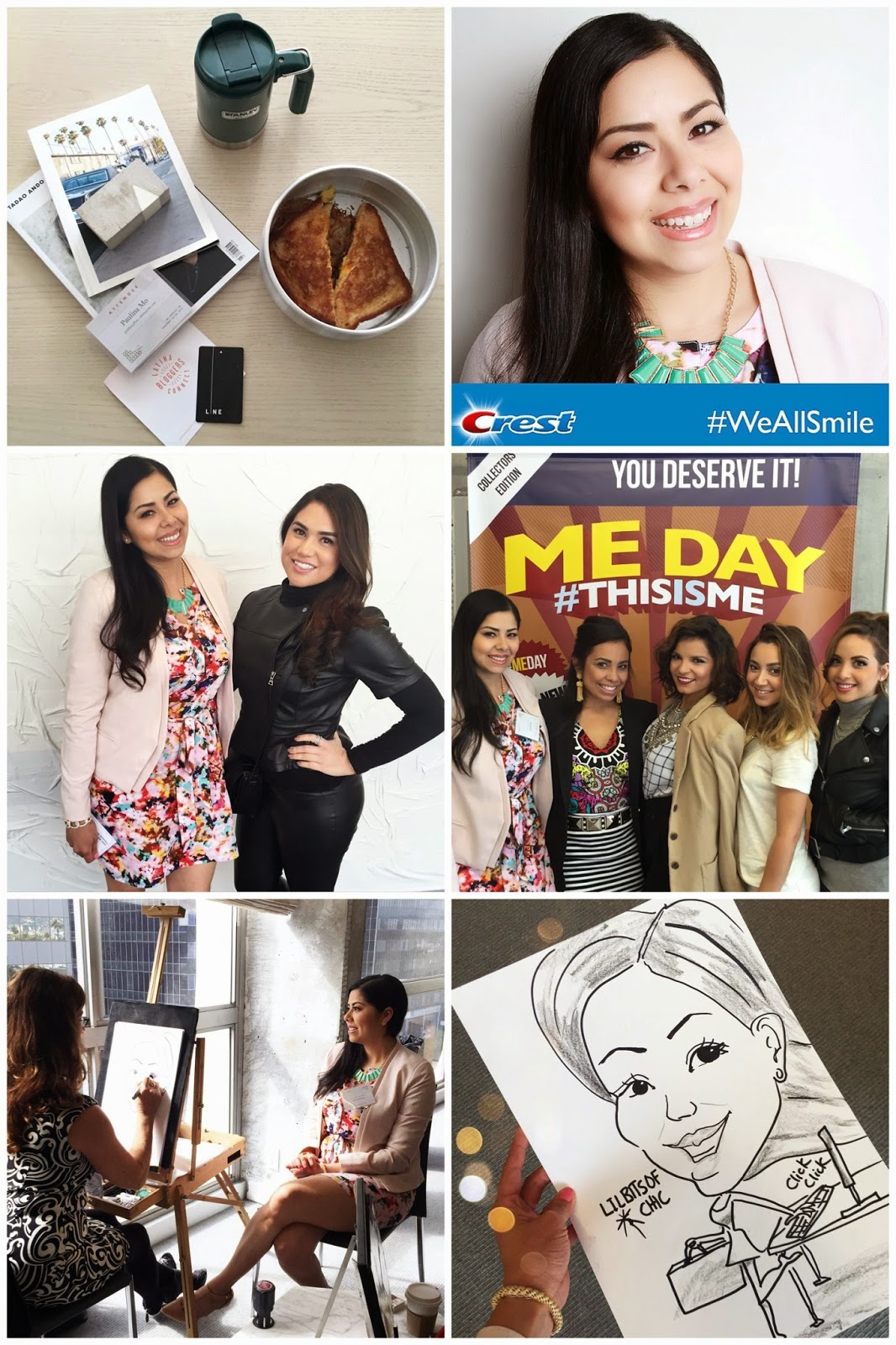 Latina Bloggers Conference, LINE hotel breakfast, room service at LINE hoel, #WeAllSmile, Caricature of a fashion blogger