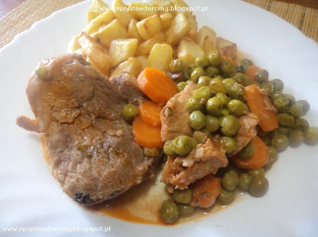 Muitas vezes Lombo de porco com ervilhas e cenouras LF28