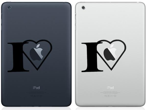 I Love Apple iPad Mini Decals