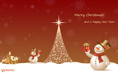 Merry Christmas & Happy New Year 2015 Wallpaper