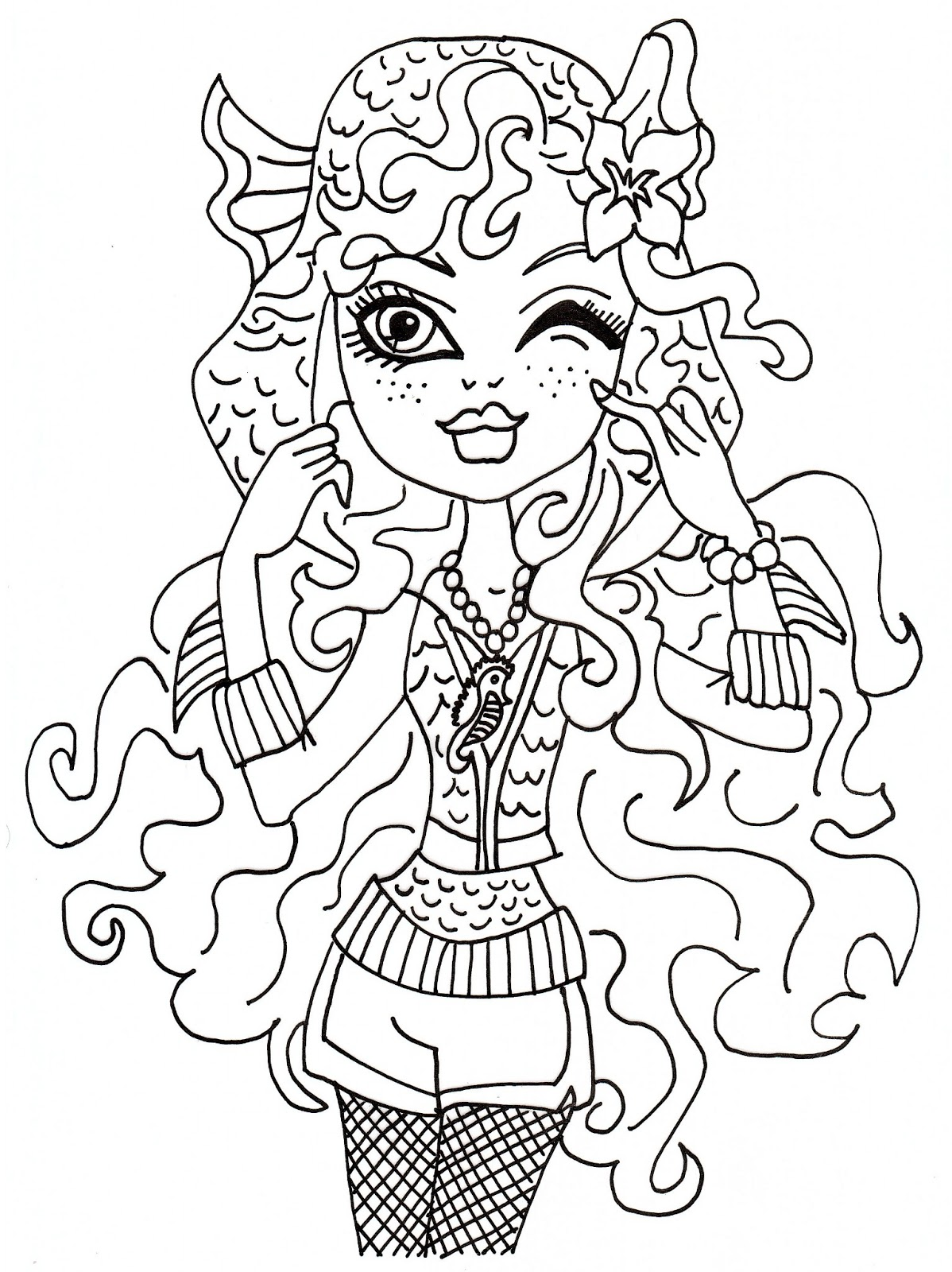 free printable monster high coloring pages may 2013