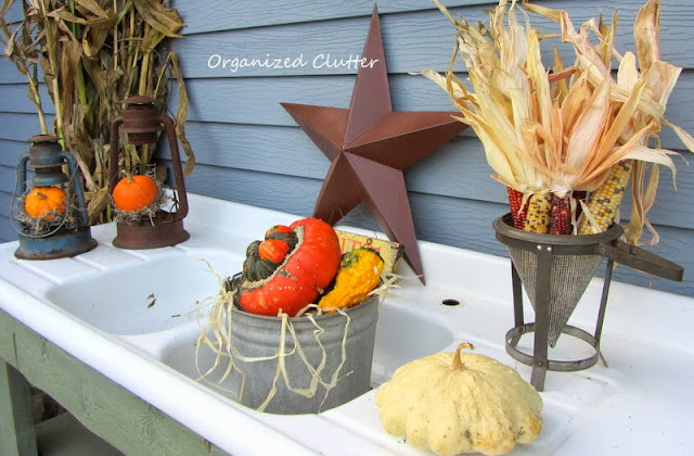 Rustic Fall Potting Bench