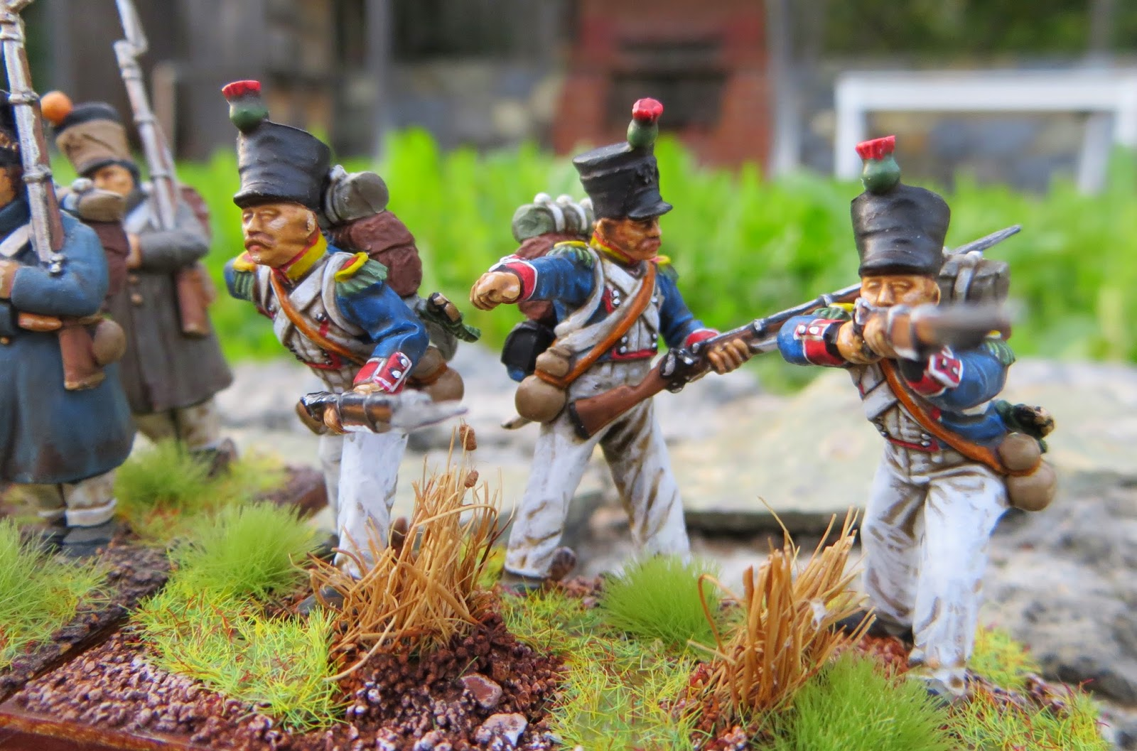 Perry Napoleonic Greatcoated French Finished28mm, Army Painter Quickshade, French, Line Infantry, Napoleonic, Perry Miniatures plastic