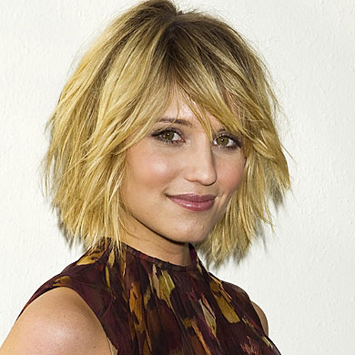 Dianna Agron hair - The Textured Bob