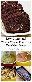 Low-Sugar and Whole Wheat Chocolate Zucchini Bread [from KalynsKitchen.com]