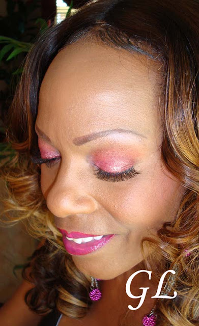 Mac Rose Pigment Pink Glitter Eyes