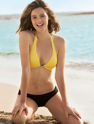 bikini top y braguita amarillo negro Carrefour Tex