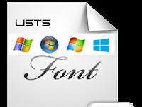 List Of Microsoft Windows Font (Daftar Font Yang Ada Di Windows)