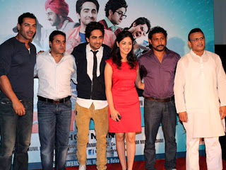 Celebrities and John Abraham at vicky donor movie first look